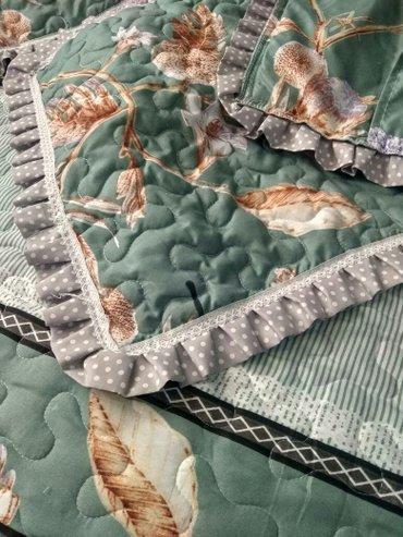 декоративные наволочки на подушки в Кыргызстан: Покрывало с двумя наволочками на добавочные подушки. хб. 1800с