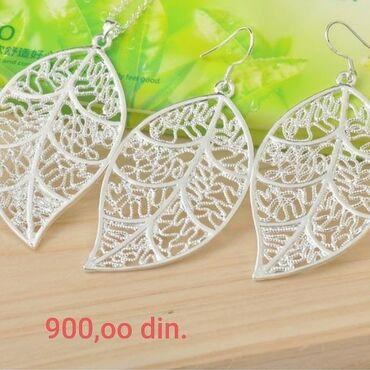 Jewellery Sets - Srbija: Set,ogrlica i minđuše,silver sterling