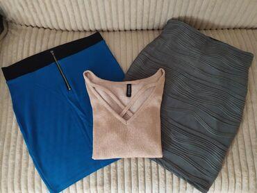3 za 1000din.Nove, dve duboke suknje, velicina S. Jako elasticne i
