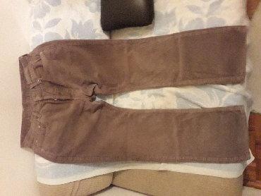 """Farm-broj - Srbija: """"FINEX"""" braon pantalone, broj W34, (kupljene u Danskoj), od sitno"""