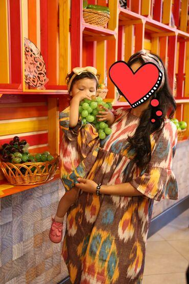 платья со штанами узбекские в Кыргызстан: Продаю два платья мама-дочь.б/у размер 44. Детское платье на 1-2