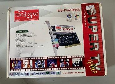 stekljannuju podstavku dlja tv в Кыргызстан: TV Tuner Internal TECH-COM SSD-TV-675+FM-карта захвата