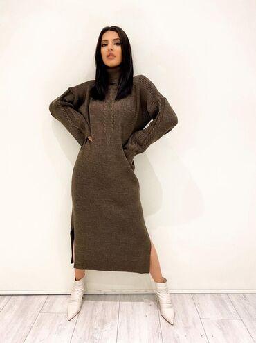 трикотаж платье в Кыргызстан: Платья трикотажные / Новые расцветки Цена 2700с /// размер стандарт