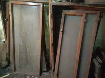 Оконные рамы с коробками двойное стекло3 штуки 1, 4 / 1метр в Бишкек