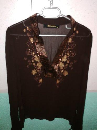 Bluza sa sljokicama, providna, velicina 38/M - Obrenovac