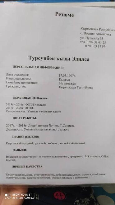 holodilnikov i kondicionerov в Кыргызстан: Преподаватель начального класса