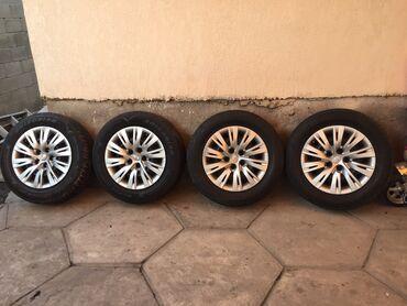 шины 205 65 r16 в Кыргызстан: Продаю летние шины вместе с железными дисками штампы размер 205 65 r16