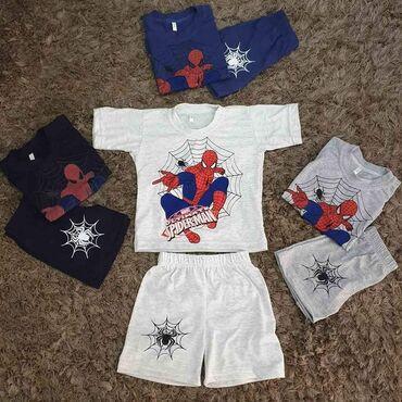 Cetiri majice - Srbija: Spiderman set kratak rukav + šorc Komplet za dečake u vel. 2-12, 100%