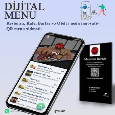 IT, internet, telekom - Azərbaycan: --Kafenize, Restoranınıza və ya Otelinizə QR menu tətbiq edərək