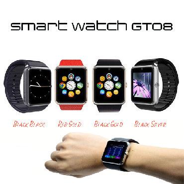 Smart Saat GT08 Yenidir Qeydiyyatlı Sim kart dəstəkləyir Yaddaş kartı
