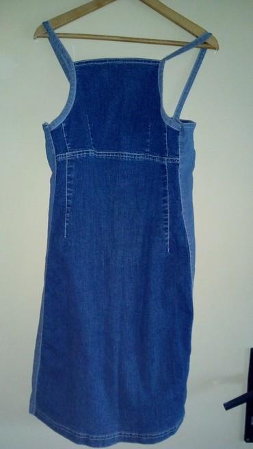 Haljinica-srebrno-sa-blago-lamiranim-delovima - Srbija: Teksas haljinica sa elastinom s velicina