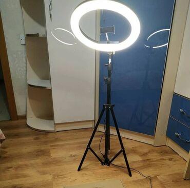 Фото и видеокамеры - Кыргызстан: Кольцевая лампа есть разных размеров и моделей.В наличии rgb лампы с