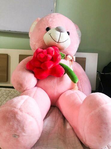 Розовый милый мишка бренда Meidikai. 1,2 метра. Очень мягкий и