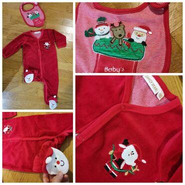 Dečija odeća i obuća - Smederevska Palanka: Novogodisnja Deda Mraz zeka i portikla. Kao novo. Prelepo Vel 80