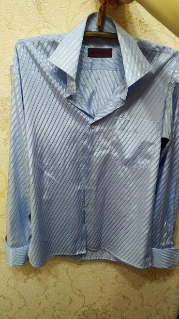 Мужские рубашки в Кыргызстан: Мужская рубашка, ворот 41 на рост 184 см48-50 размер, длинный рукав