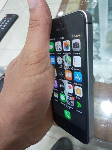 apple iphone se - Azərbaycan: İşlənmiş iPhone SE 16 GB Boz (Space Gray)