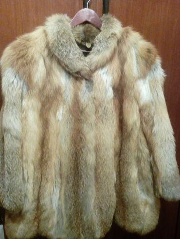 Bunda-nerc-nozice-sa-kapuljacom-izgleda-uzivo - Srbija: Bunda od lisice, veliki broj,broj 54 u odlicnom stanju,kupljena u