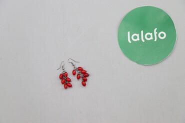 Личные вещи - Украина: Жіночі сережки Ягідки    Довжина: 5 см Колір: срібний/ червоний  Стан