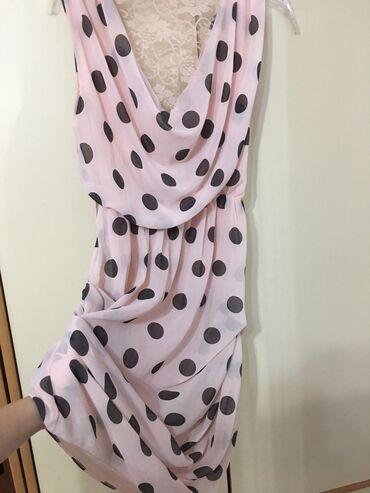 Pre lagana peleri na - Srbija: Roze haljinica sa cipkom na ledjima, potpuno lagana. 38 velicina
