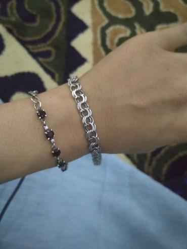 Браслет и цепочку серебро - Кыргызстан: Мужской браслет серебро.22.5 см