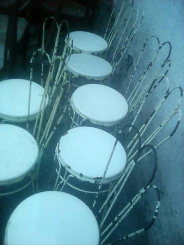 Стулья железные.7 шт.цена по 750с в Бишкек