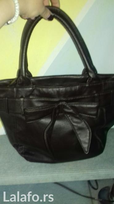 Tamno braon kozna torba. Potpuno nova. U unutrasnjosti ima par - Sombor