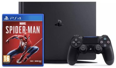 Sony PlayStation 4 1TB Slim Gaming Console With Spiderman Game в Григорьевка