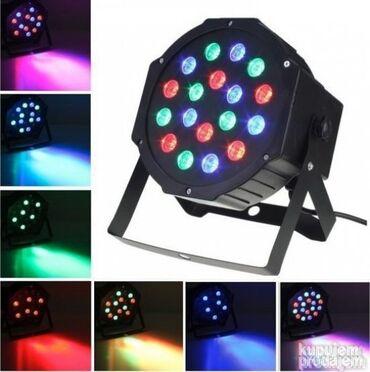 Led rasveta - Beograd: RGB Led par 18w Led parka 18 dioda RGB led parka 18w LED rasveta pogod