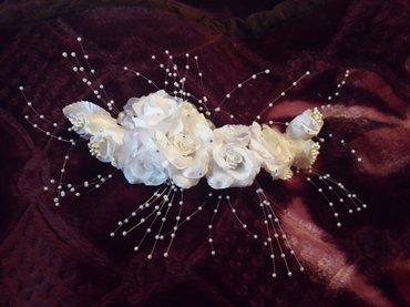 (Сокулук) Белоснежные цветы венок в волосы невесте и на выпускной