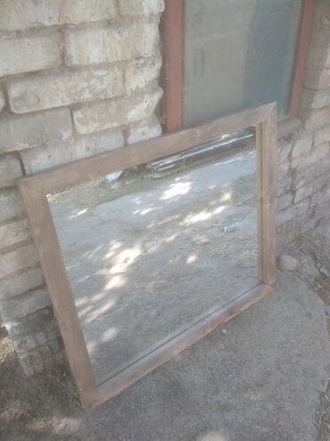 Продаю зеркало деревянное размер  80см×70см   Также делаем на заказ