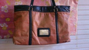 Kozna torbaputna torba prava koza - Srbija: Kozna original velika torba, dosta stvar staje u nju nosena ali
