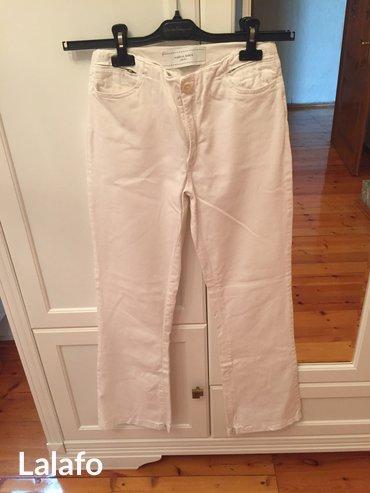 Белые джинсовые брюки, размер 42, в хорошем состоянии, marina babini в Баку