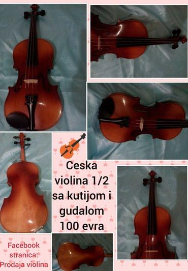 Sport i hobi - Pozarevac: Ceska 1/2 violina, 100eu kompletu idu violina + gudalo + kutijaza vise
