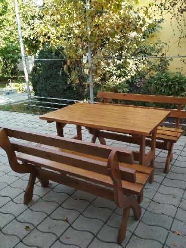 Садовая мебель - Кыргызстан: Город Ош и Бишкек! Комплект из двух скамеек и стола, подойдёт для дома