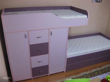 Двухъярусный кровать+комод+2 шкафа в Бишкек