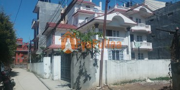 a 2.5 stories house having land are 0-10-0-0, 10 feet pitched road, in Kathmandu