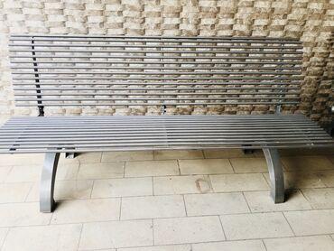 Открытая садовая скамейка из Нержавеющей Стали. Длина : 1.80 м. В