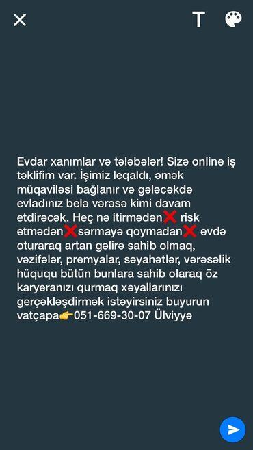 Əməkdaş axtarışı (vakansiyalar) - Azərbaycan: Şəbəkə marketinqi məsləhətçisi. İstənilən yaş. Natamam iş günü. Abşeron r-nu