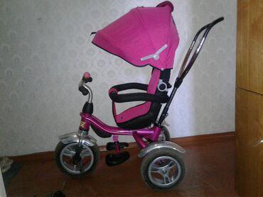 велосипед с детской коляской в Кыргызстан: Продаю б/у вело-коляску.Чистый!постиранный!квартирного хранения. Высок