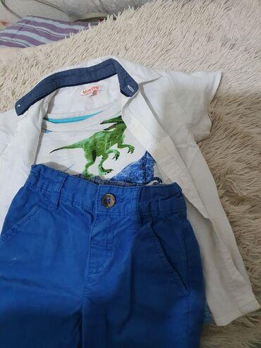костюм школьника 18 в Кыргызстан: Тройка на 12-18 мес, 1год -1.5 года, рубашка лен, футболка, шорты