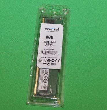 Təzə DDR4 8GB 2400 Crucial UDİMM Rəsmi Zəmanətlə Komputer в Bakı
