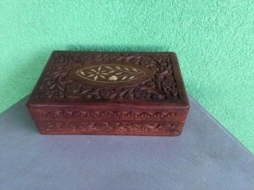 Kutija za kubanske cigare,drvo I rezbaren rad,duborez,vidi slike,za - Sombor