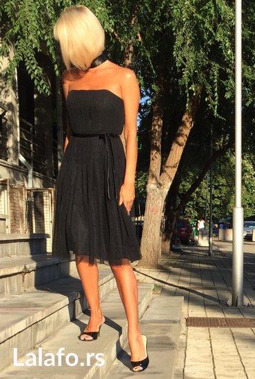 Vecernja-haljina - Srbija: Elegantna vecernja crna korset haljina modernog dizajna, pogodna za
