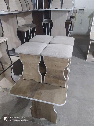 стол с табуретками in Кыргызстан   ДРУГИЕ ТОВАРЫ ДЛЯ ДОМА: Стол с 4я табуретками Все подходящий вам расцветкиИмеются в наличии