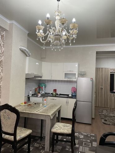 теплые полы бишкек цена в Кыргызстан: Элитка, 1 комната, 58 кв. м Теплый пол, Дизайнерский ремонт, Лифт