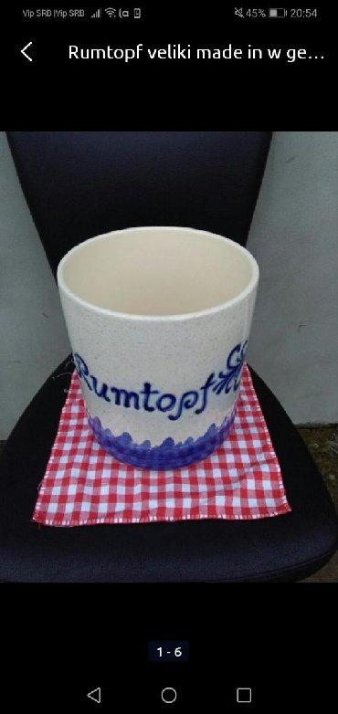 Velika posuda Rumtopf hand made