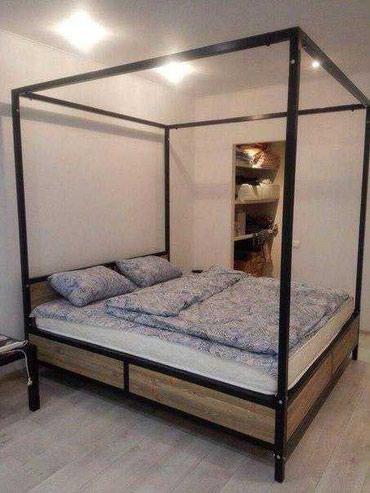 Кровать в стиле лофт на заказ