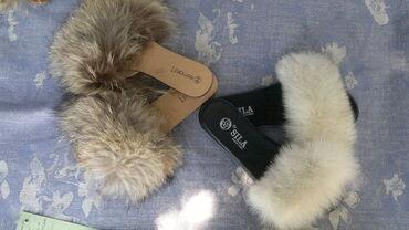 Krzno - Srbija: Krznene papuče,pravo krzno NovoSa krznom rakuna br 39-25,5cm.Sa krznom