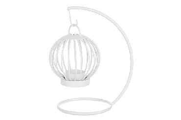 Подсвечник Невесомое плетение, размер: 22х11см, белый металл