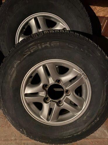 Диски на Lexus LX470 и GX470 с резиной всесезонная R16 состояние